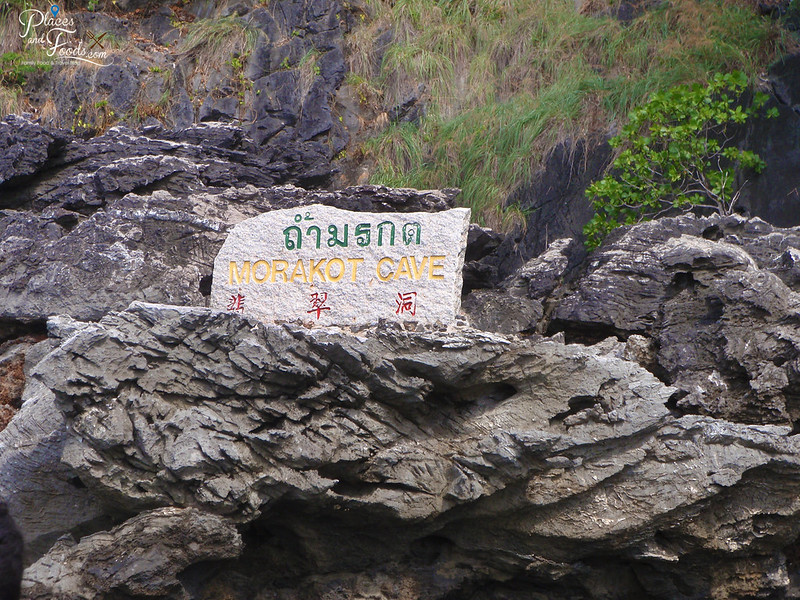 emerald cave island marakot sign