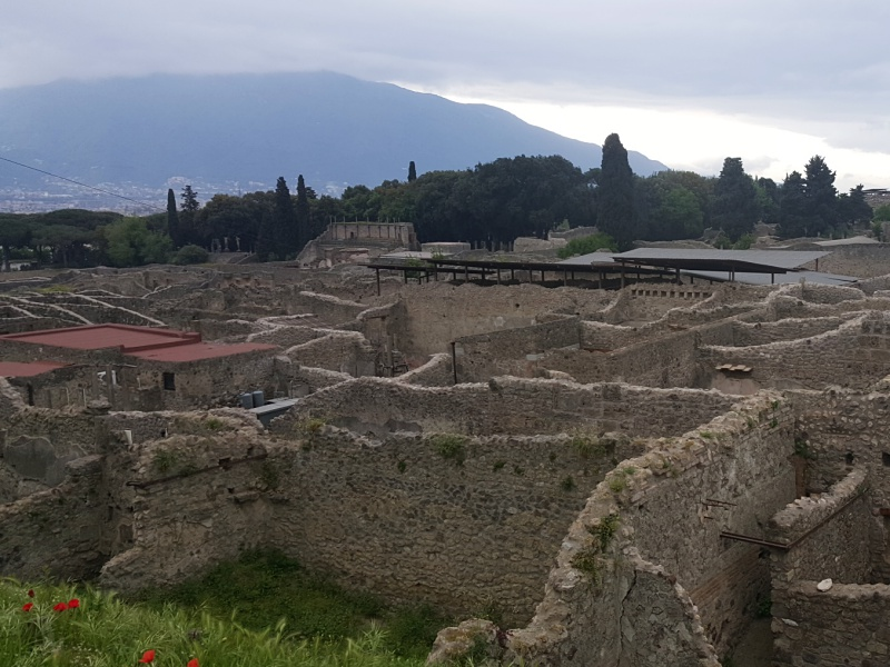 view of Pompeii ruins