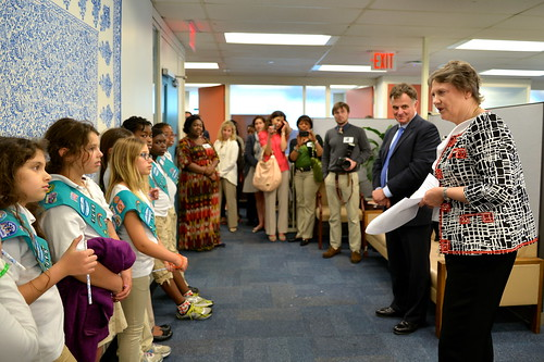Helen Clark and Jordan Ryan meet with Girl Scouts | by United Nations Development Programme