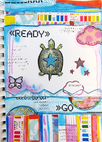 art journal page grid format | by marciadotcom