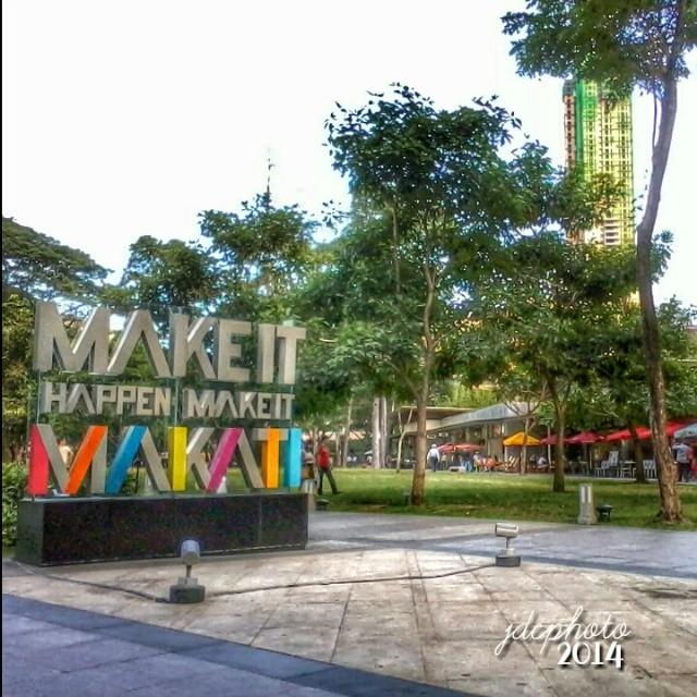 """Make It Happen, Make It Makati""  #notedinsixwords :D  Ayala Triangle Gardens, Paseo de Roxas, Makati City, #Philippines. 2013  #jdcphoto #photoroad #jdcfilters #makeitmakati #Makati"