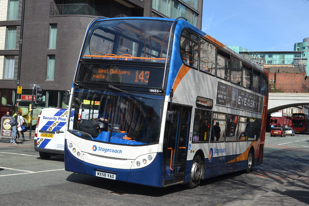 ... Stagecoach AD ENviro 400 19455 MX58VAO - Manchester   by dwb transport  photos