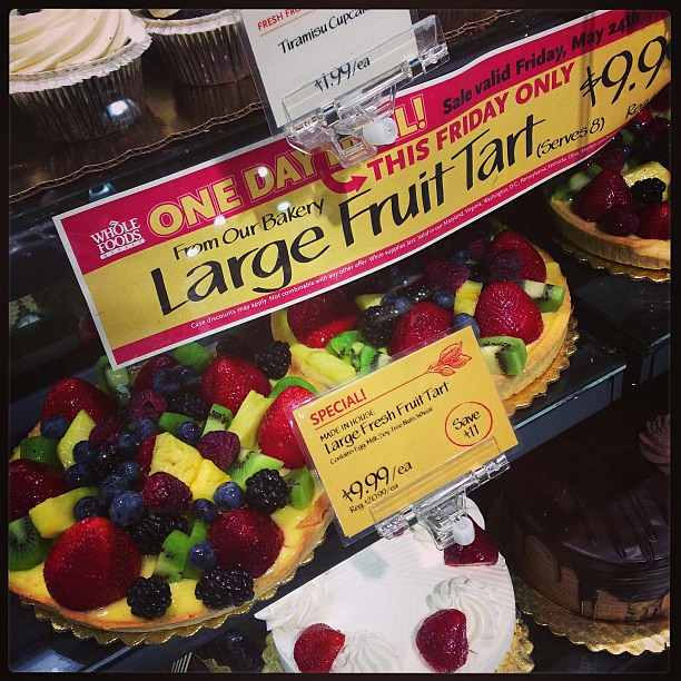 half price fruit tart @ whole foods! | Tony Chang | Flickr