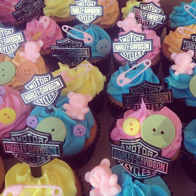 ... Harley Davidson Baby Shower Cupcakes #harleycake #harley #imagineitcake  | By Imagine It Cake