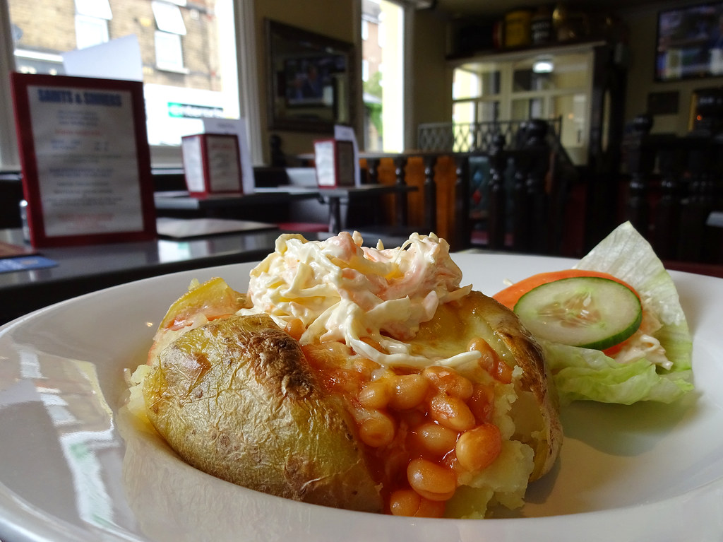 Jacket Potato With Cheese Beans And Coleslaw At Saints Flickr