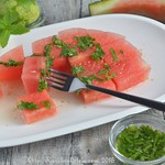 Watermelon with Fresh Mint and Lime Syrup (1)