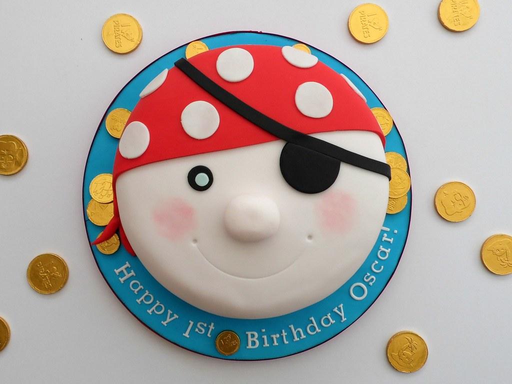 Pirates Face 1st Birthday Cake Melissa Rayner Flickr