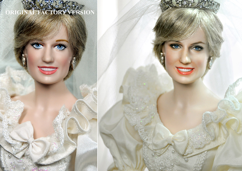 Princess Diana Wedding Doll custom repaint   FOR MORE OF MY …   Flickr
