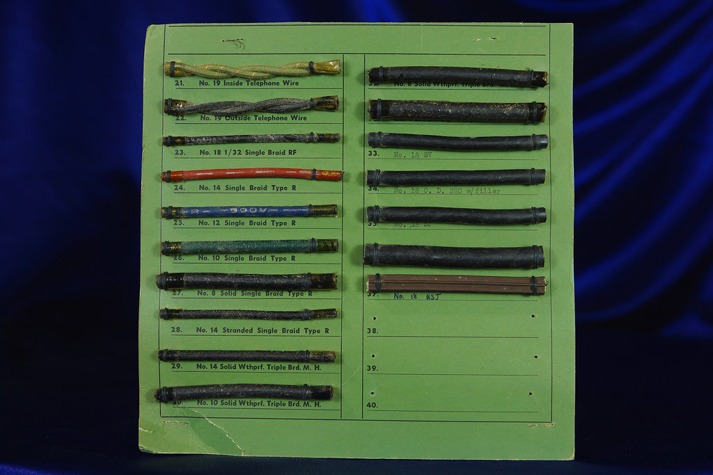 Asbestos Electrical Wire Sample Display 2 | Some with asbest… | Flickr