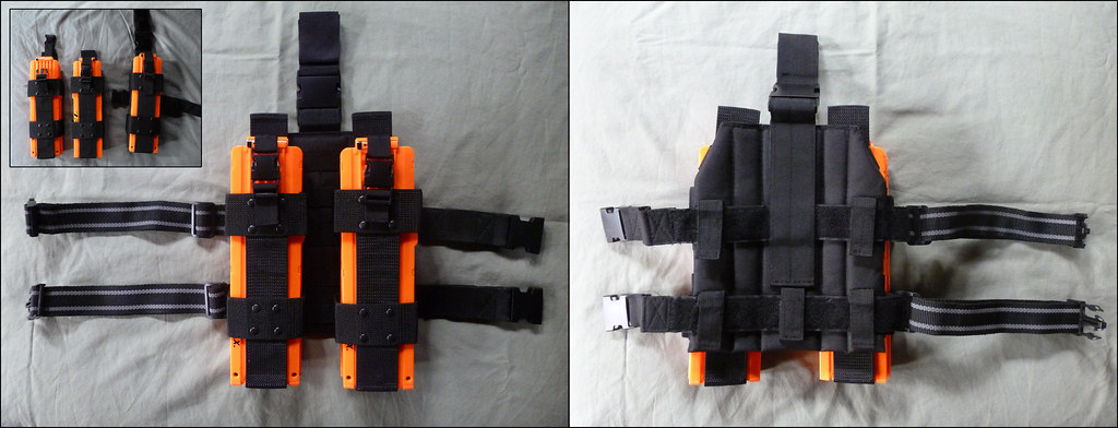 Nerf Magazine Holder NERF Drop Leg Mag Pouch Two x41 NERF clip holders attached … Flickr 29