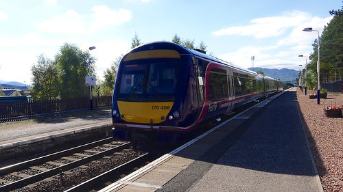 Inverness train arrives at Kingussie | by Nick Bramhall