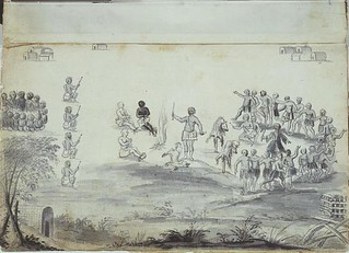 Frances Louis Michel The Trial of John Lawson, Christoph von Graffenried, and an Enslaved Man by the Tuscarora France/North Carolina (1711) Pen and Ink wash on Parchment. The story behind this sketch is an interesting one. Lawson, a surveyor, and von Graf | by medievalpoc