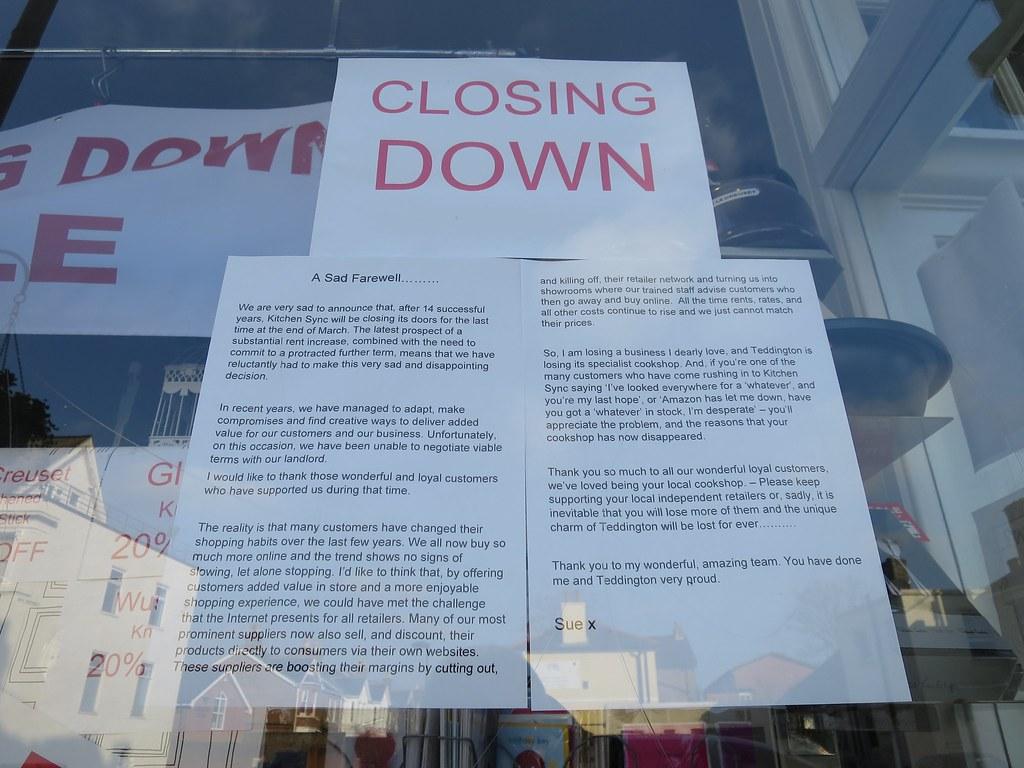 Kitchen Sync closing notice | teddingtontown | Flickr