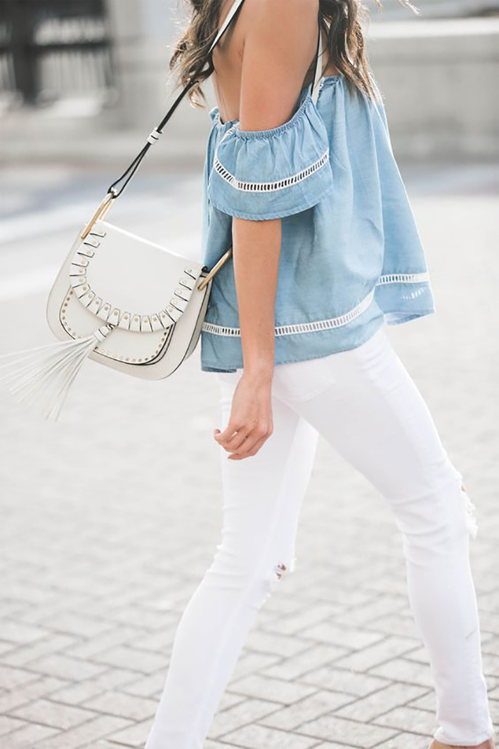blue light top inspiration street style fashion outfit3