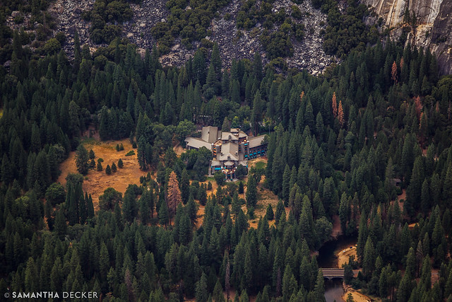 The Ahwahnee from Glacier Point