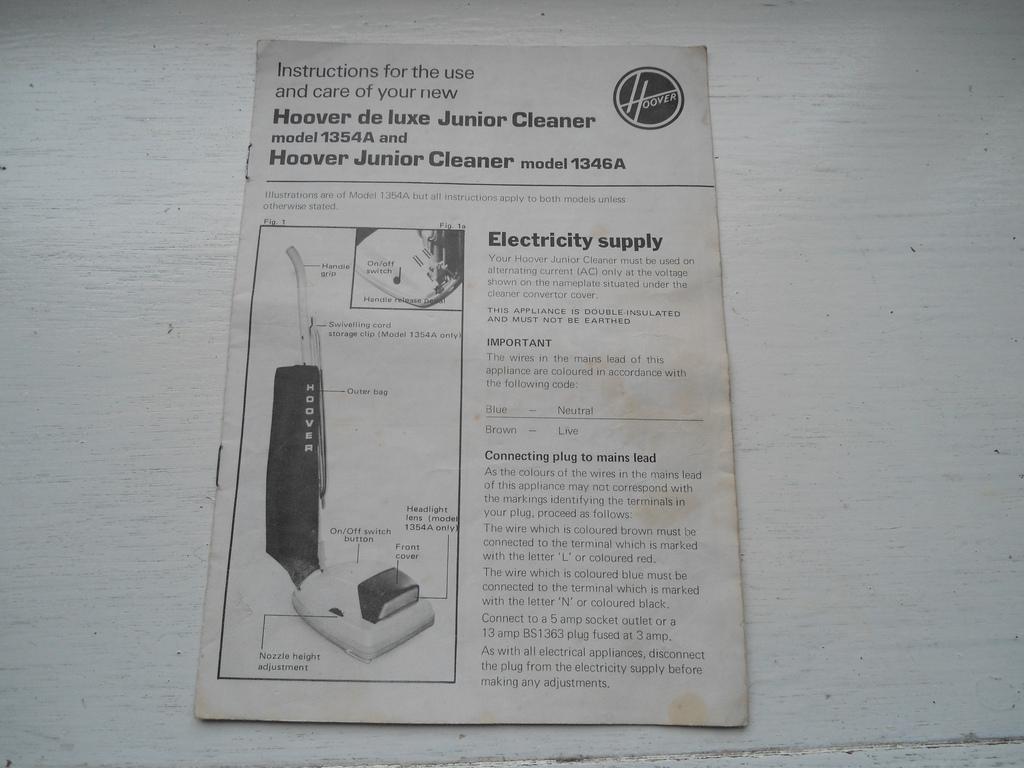 Hoover 1354a Manual Instruction Bedienungsanleitung Manu Flickr