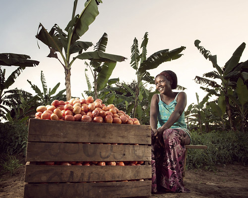 Olivia surveys the fruits of her labor | by World Bank Photo Collection