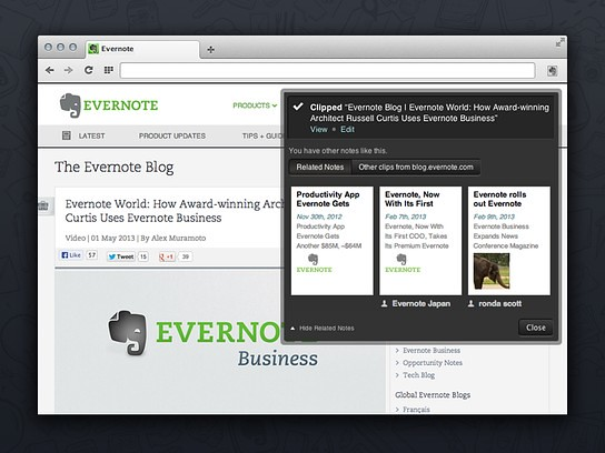 Opera X Evernote Web Clipper | Chacha Weng | Flickr