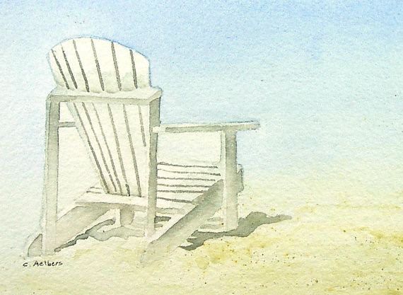 Adirondack Chair on the Beach Adirondack chairs are a Paci Flickr
