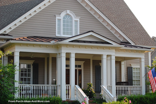 Hip And Gable Porch Roof Combo To Break The Lines Of The