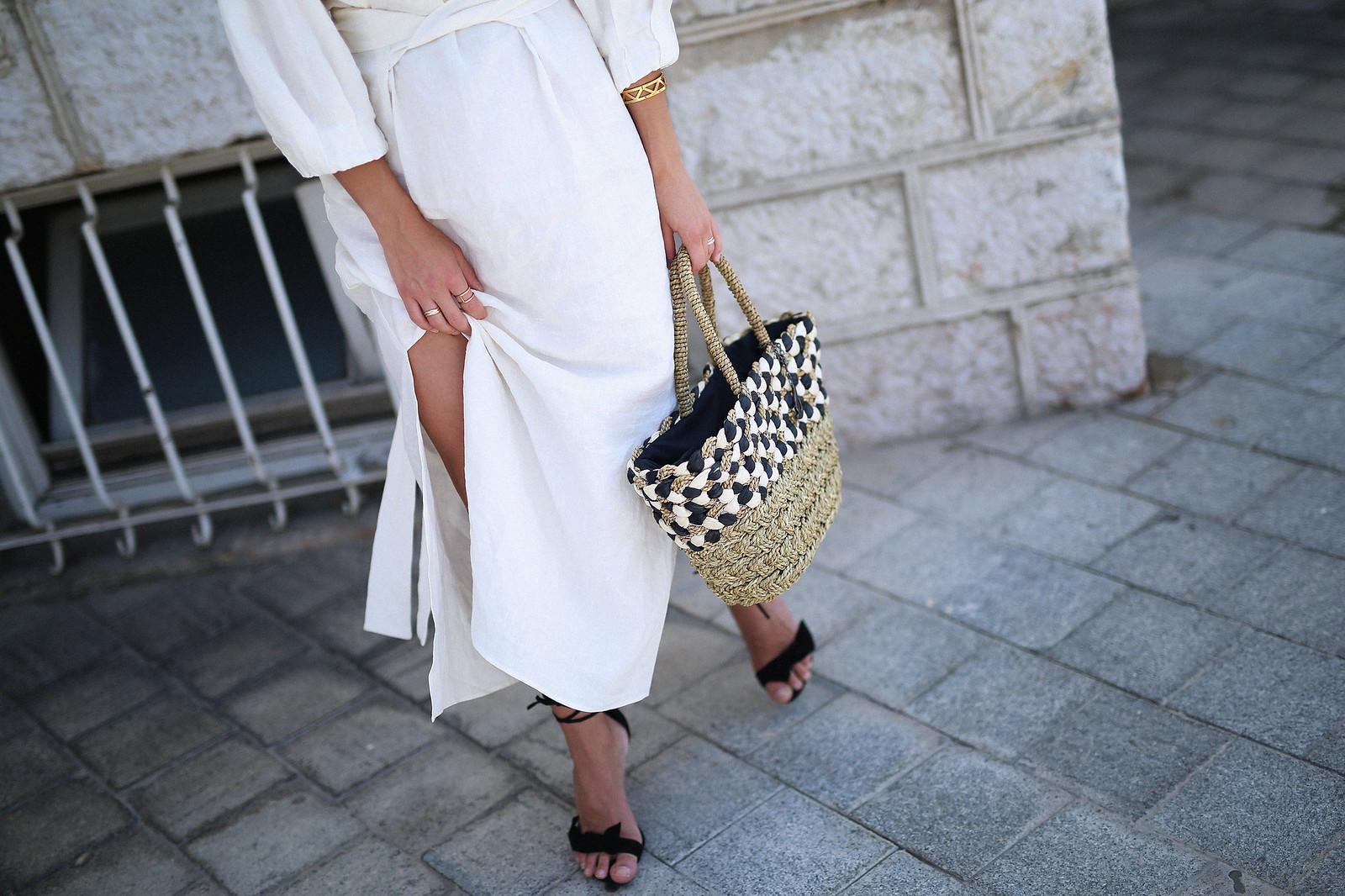 jessie chanes seams for a desire zara vestido lino capazo rafia-4