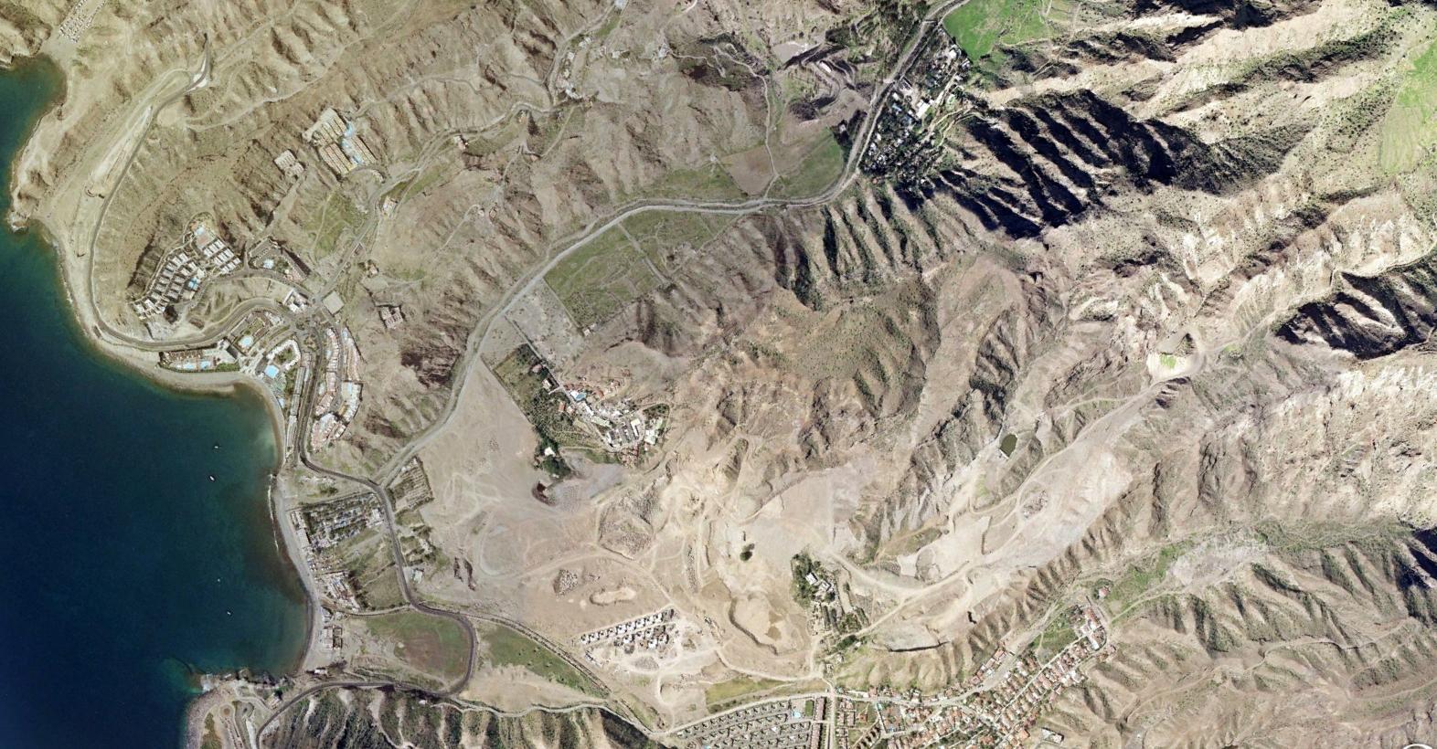 el barranco del cura, gran canaria, las palmas, priest ravine, antes, urbanismo, planeamiento, urbano, desastre, urbanístico, construcción