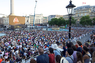Trafalgar Square during the live relay of Tosca on BP Big Screens. © ROH / Elliott Franks 2013 | by Royal Opera House Covent Garden