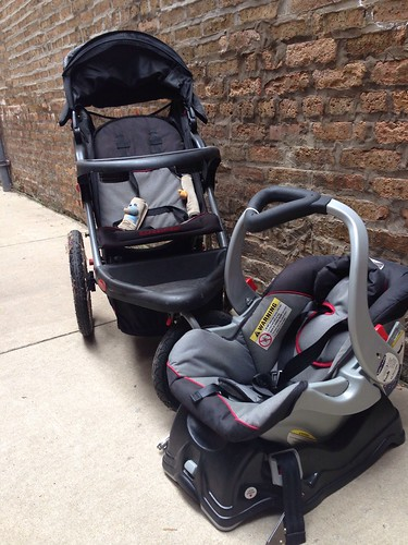 42. Baby Trend Jogger Baby Travel System, Millennium, stroller w carseat - $90 | by 96goma