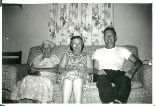 "Myrtle (Crider) Copeland, Dorothy (Copeland) Weaver, and William Delvie Copeland (""Bill""), late 1950s. 