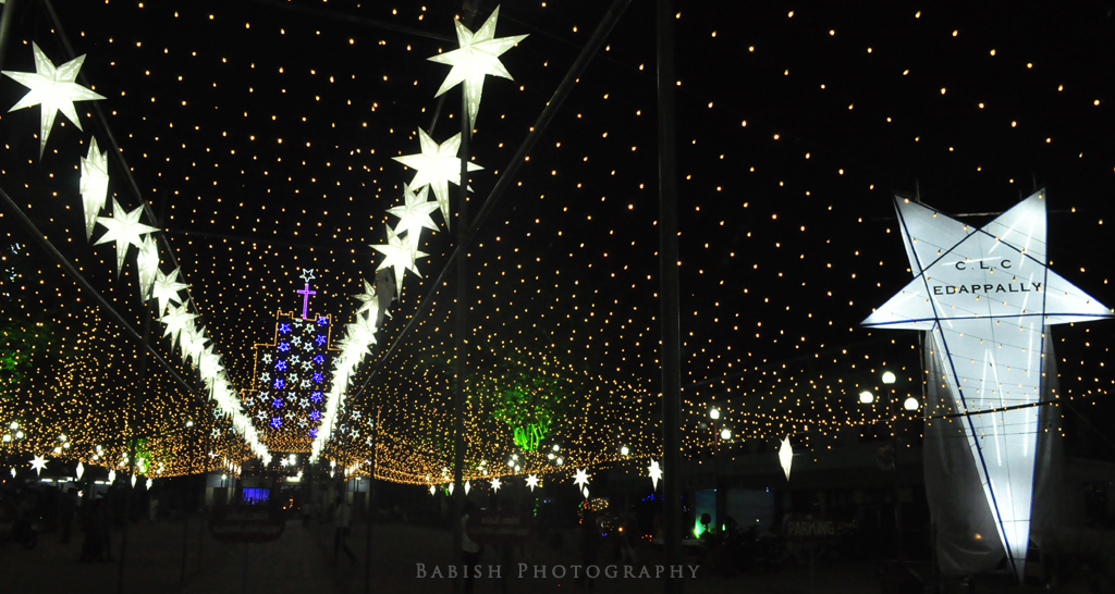 christmas decorations at edappally church kochi by babish vb