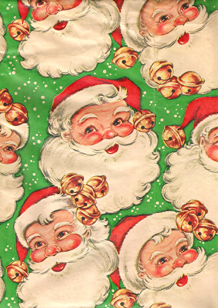 Vintage Christmas Wrapping Paper 1950s | Santa Claus | Jakki | Flickr