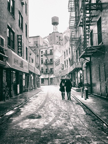 New York City - Snow - Doyers Street - Chinatown | by Vivienne Gucwa