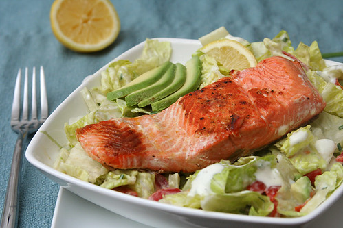 salmon ranch salad 6 | by crumblycookie