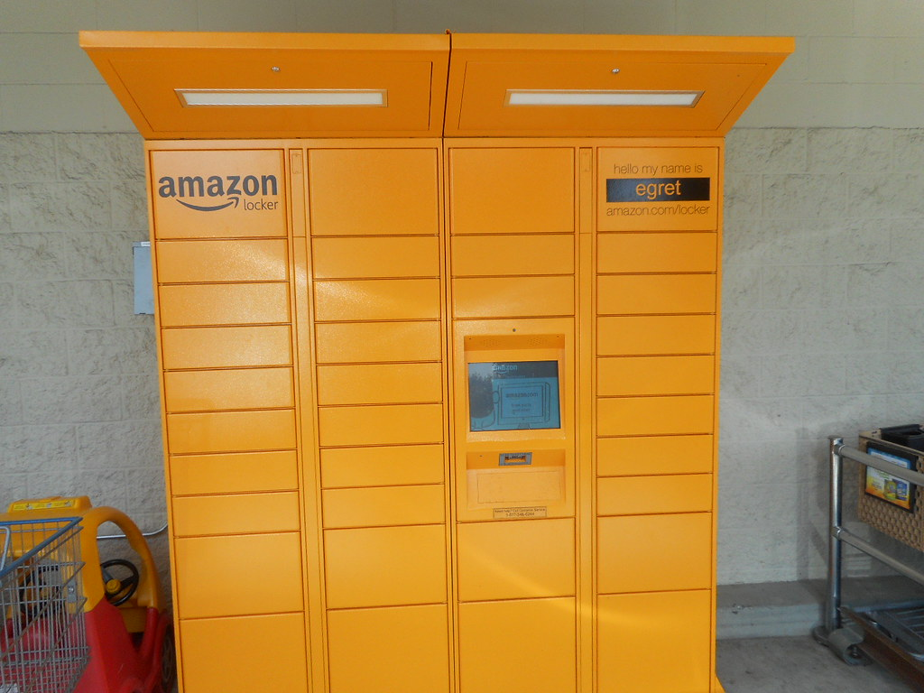 Amazon Locker at Safeway order online and pick up here fo Flickr