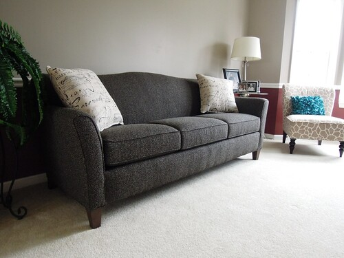 Smith Brothers 378 Sofa This Transitional Camel Back