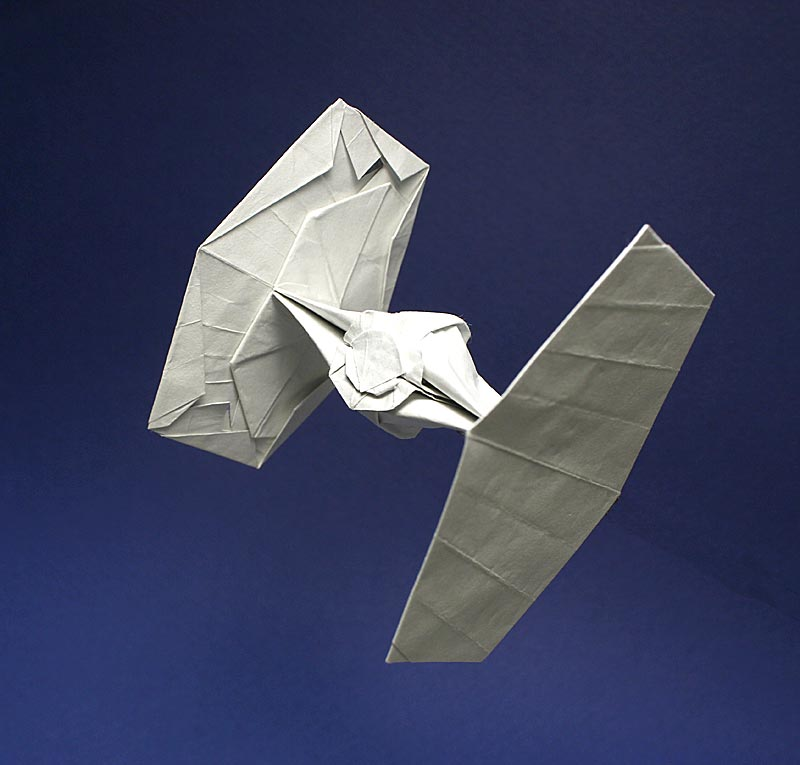 Tie Fighter Origami New Photo My Own Design 1979 Fish Base Flickr