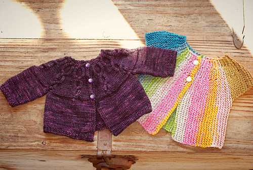 knits for baby girl - korrigan and retro baby smock | by sew liberated