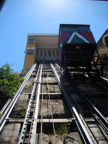 Bajando por el ascensor Reina Victoria