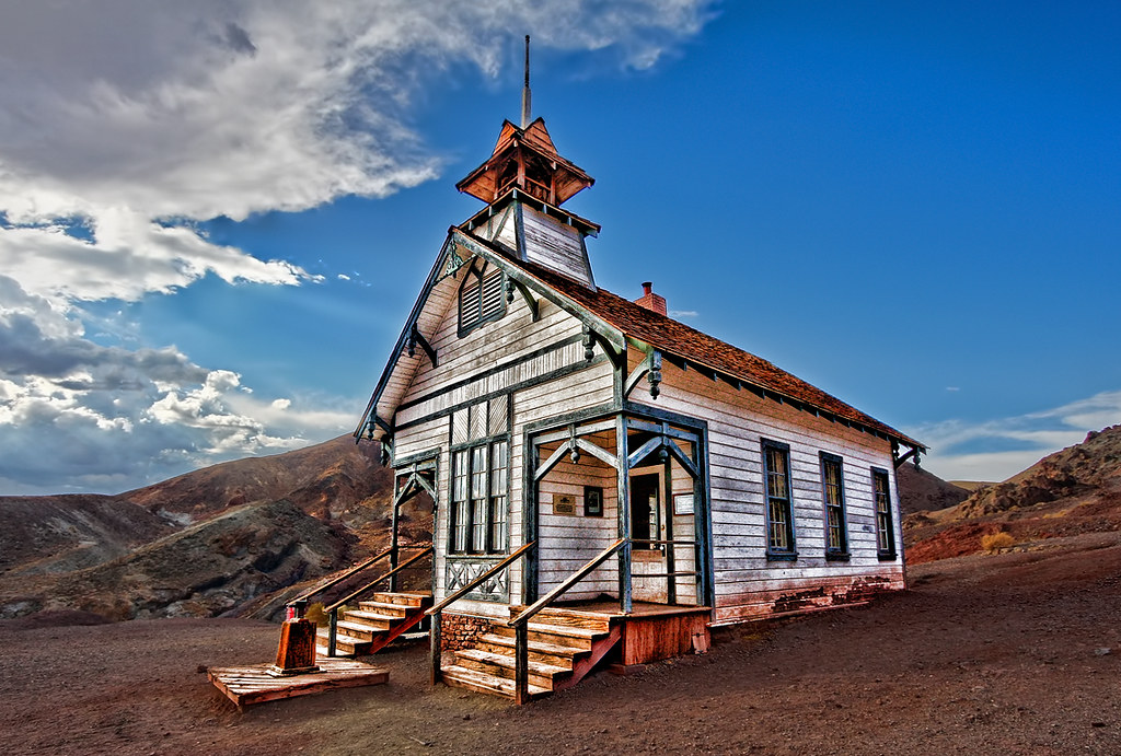 calico ghost town school house the old school house at cal flickr