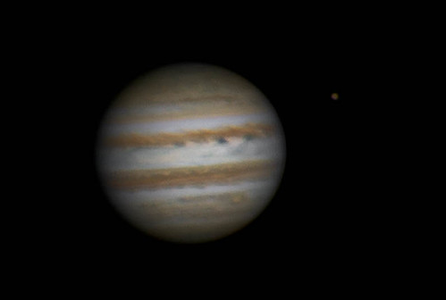 Jupiter & Ganymede RRGB - 260214 - 18:34UTC | by Mick Hyde