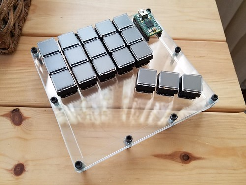 Mini-keyboard ready for wiring | by lmorchard