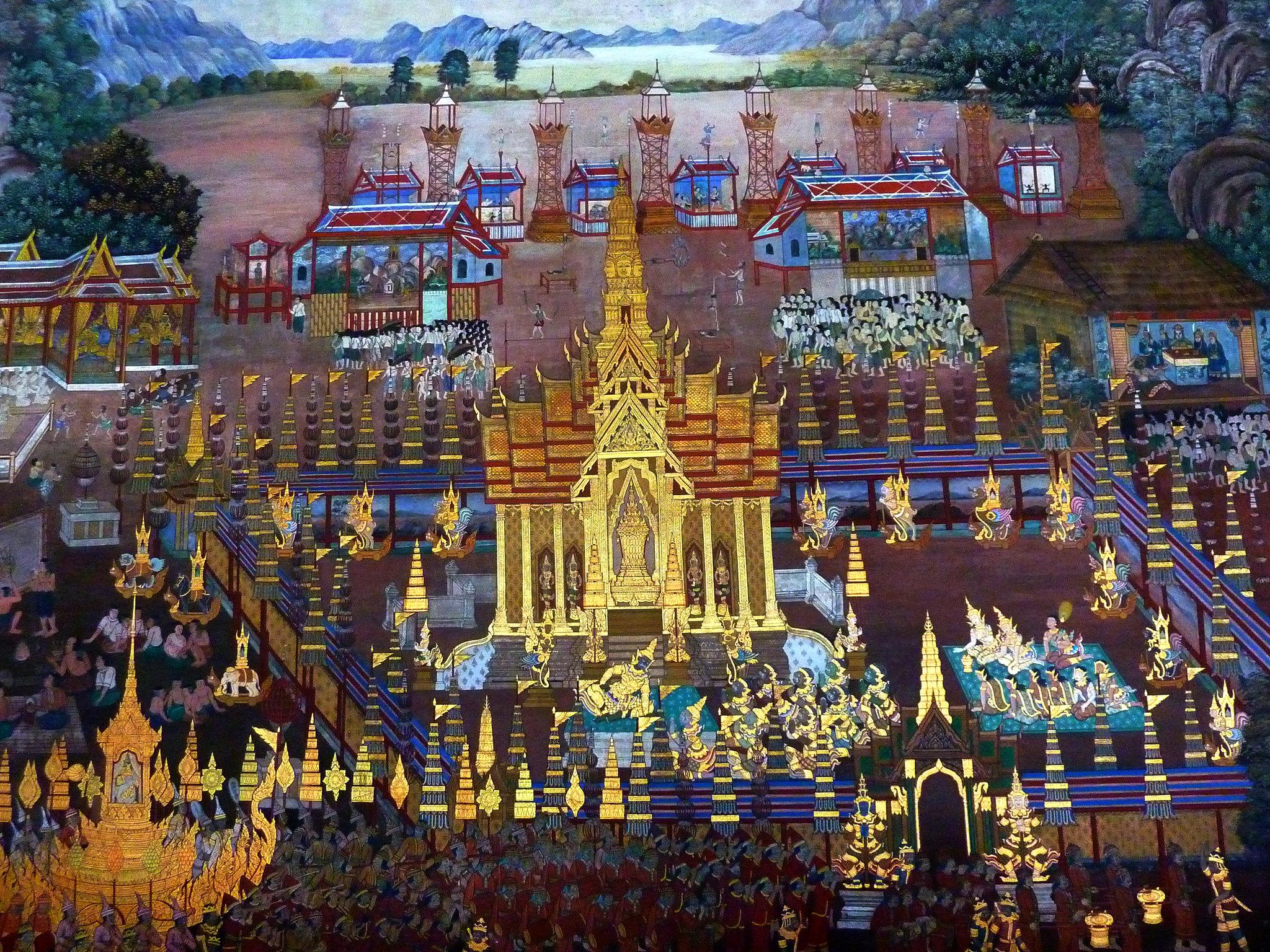 135 Ramakien Murals