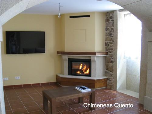 Chimenea quento modelo chantada con apto calefactor termog - Chimeneas quento ...