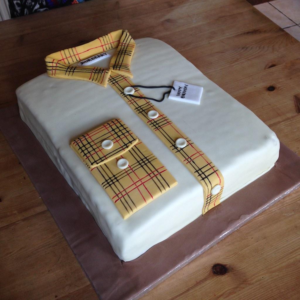 Shirt design cake -  Burberry Shirt Cake 1 By Marks Masterbaking