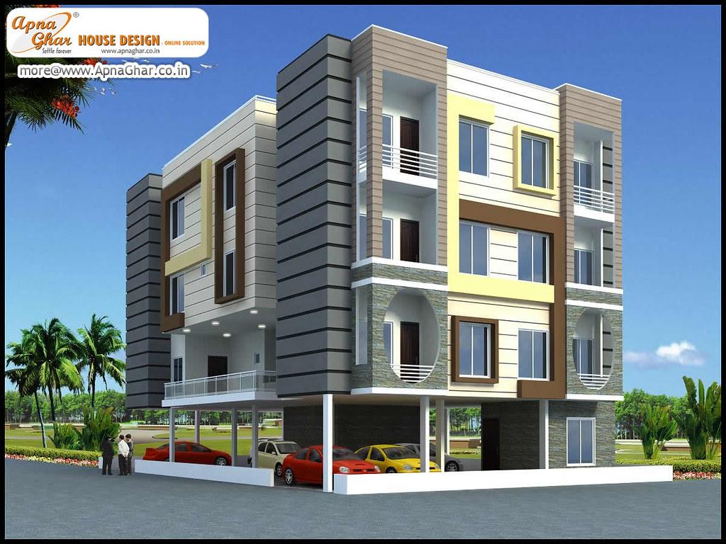 3D Exterior view of an Apartment Design. | 3D Exterior view … | Flickr