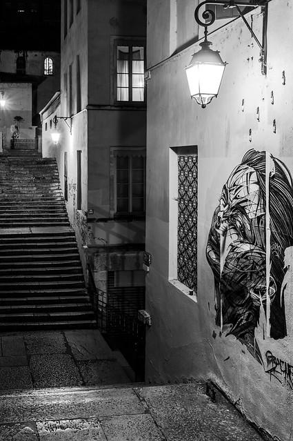 Passage Thiaffait, Wall Painting, Croix-Rousse, Lyon