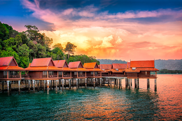 Chalets on Water   Langkawi Island, Malaysia