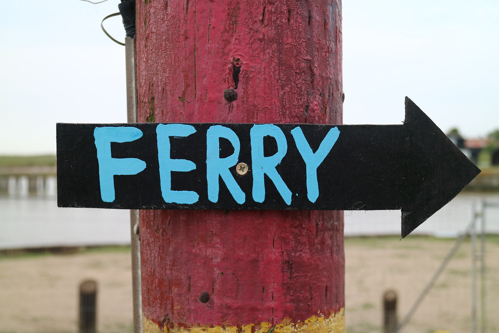 Ferry sign in Southwold
