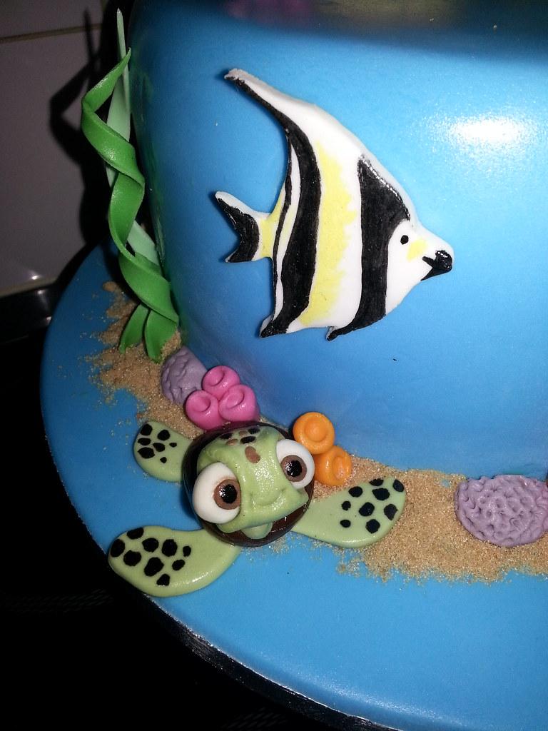 Twins 2nd birthday cake under the sea Nemo and Dori fi Flickr