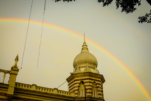 Double rainbows over the National Textile Museum